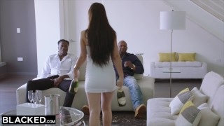 BLACKED Two Teens Get Creampied By Monster Black Cock Dick sucking