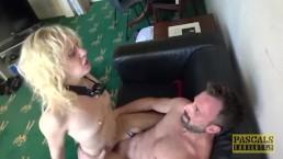 PASCALSSUBSLUTS - Blonde sub April Paisley anally fucked