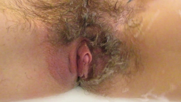 Shaving off my extreme hairy big clit pussy, lips and asshole in close up