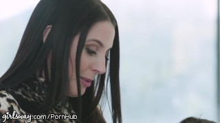 Girlsway Lesbian Anal With Abella Danger & Angela White Fox natural