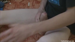 Horny Twink With A Foot Fetish Blowjob gay