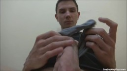 Horny Twink With A Foot Fetish