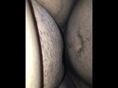 Cum on fat pussy