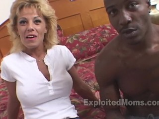 Best celeb nude videos fit blonde mom fucks a big black cock in interracial mature video, hot blonde