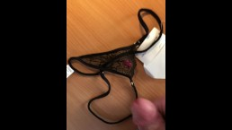 Cumshot (wank) on brand new Wicked Weasel Panties