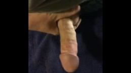 My cock getting hard and my jacking around