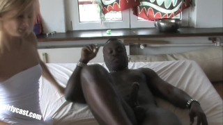 First BBC (Big Black Cock) for the sweet Nadine porno