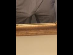 Boyfriend has a hands free orgasm with a full bladder!!