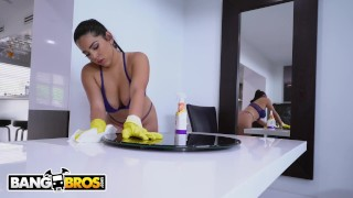 BANGBROS - Thicc Latina Maid Julz Gotti Cleaned My House and My Cock Boobs hardcore