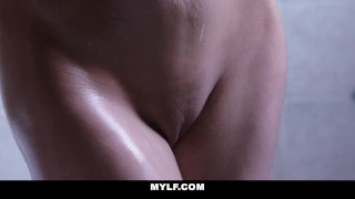 MYLF - MILF Gets Dicked In Bathtub Blonde pussy