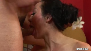 Kinky Asian gal Angie Venus takes it in the rear Jade busty