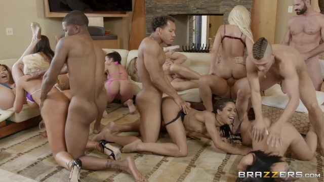 Free videos of horny porn stars Brazzers house season 3 ep3 abella danger hosts an insane orgy fuck fest