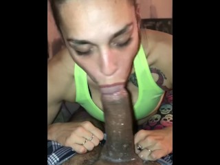 POV NO HANDS EXTRA SLOPPY DEEPTHROAT BLOWJOB
