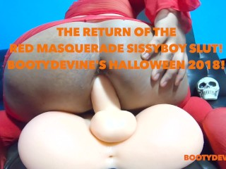 The Return Of The Red Masquerade Sissyboy Slut!: Free Trailer!!
