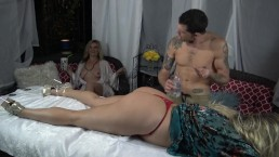 Swingers Get A Kinky Massage at North Georgia Resort- 4Sum Cum Hard!