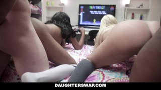 Videogame daughterswap dads each stepdaughters others fuck lala black