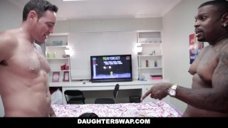 DaughterSwap - Videogame StepDaughters Fuck Each Others Dads