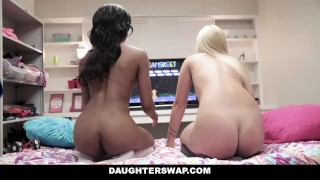 DaughterSwap - Videogame StepDaughters Fuck Each Others Dads Dick vixen