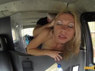 Father figure porn videos fake taxi blondes boobs caught on camera, fake taxi faketaxi sex in car de
