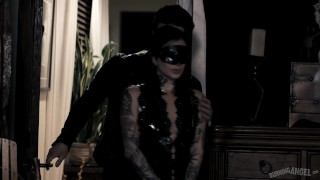 Joanna Angel Gifted Latex Bunnies for Lesbian Orgy that Goes Dark! Siblings step
