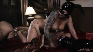 Joanna Angel Gifted Latex Bunnies for Lesbian Orgy that Goes Dark! Cock babe