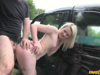 3 dicks in a pussy fake taxi scottish lass rides big cock, faktaxi big cock shaved pussy stockings p