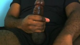 Cumed on my thigh, old video of me jerking