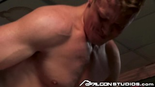 FalconStudios Big Dick Muscle Hunk Daddy Rough Fucking Stranger Oral blonde