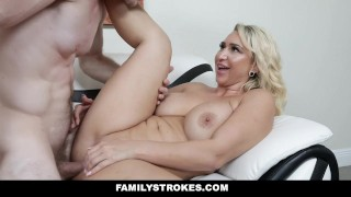 FamilyStrokes - Sexy Stepmom Teaches Stepson To Dance And Fuck Sister thick