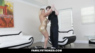 FamilyStrokes - Sexy Stepmom Teaches Stepson To Dance And Fuck