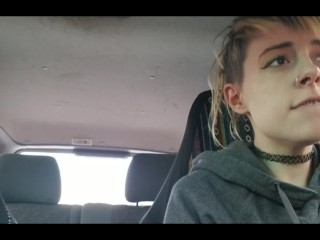 In public with vibrator and having an orgasm while driving