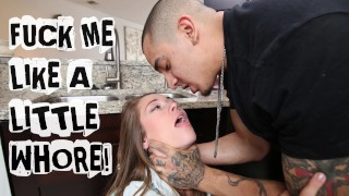 ABUSE ME - Young Teen Kirsten Lee Asks Her Boyfriend Bruno Dickemz To Fuck Sex milf