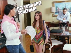 DON'T FUCK MY DAUGHTER - Step Mom Rachel Starr Punishes Sally Squirt