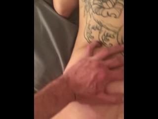 Sleepy Tattooed Slut Gets Creampied