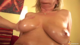 Stepmom fisted chubby rough oiled oiled stepmom