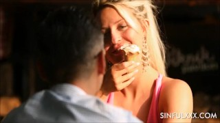 Amazing holiday creampie sex tape by SinfulXXX Mother point