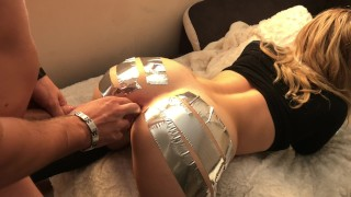 ANAL GAPE CHALLENGE ` Schoolgirl loves to be Streched w/ Duct Tape porno