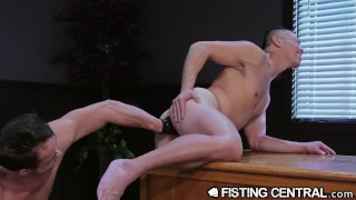 FistingCentral The Fist My Boss Gives Me After Work Hours Jock solo