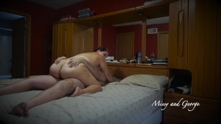 Wife Bounces Her Ass Up and Down Her Hubby's Cock