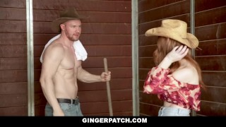 GingerPatch - Sexy Ginger Dicked Down By Cowboy Daughter hardcore