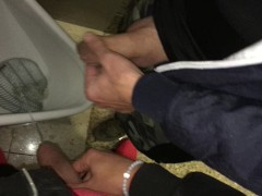 Pissing with my step brother at disco urinal
