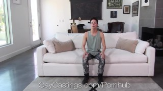 GayCastings Newcomer swallows casting agent porno