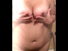 Young Chubby Squeezing Big Boobs