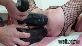 Double destroyed fucking dildo annas holes gaping kink
