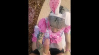 TS Bunny Lena Kelly Sucks Down a Big Cock porno