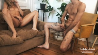 LeoLulu x Lele O - Jerk Off Instructions for Couples // Short Version porno
