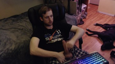 Big uncut dick Canadian web cam model jerk off (no cum) horny young dude