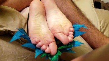 TRICK OR TREAT, TICKLE HER FEET! VICTORIA VALENTINE GETS WHAT SHE DESERVES!