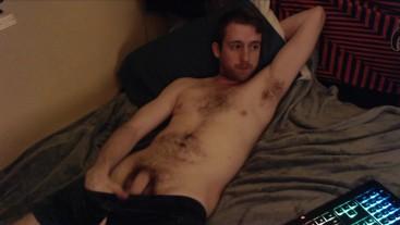 Horny gay cam model fondles dick and teases Hot amateur porn big uncut cock