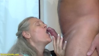 92 years old granny doing deepthroat Stepmom mommy